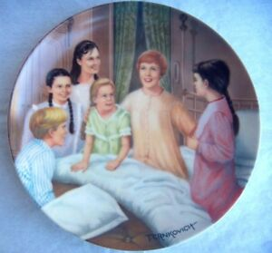 """The Sound of Music Series Plate """"My Favorite Things"""" 1986 Plate - NEW"""