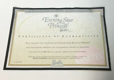 Evening Star Princess Barbie Doll Certificate of Authenticity COA ONLY • 2000