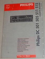 Manual de instrucciones de Philips autoradio dc 501/505/511/515 stand 12/1991