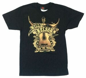 Willie Nelson Guitar Trigger Born For Trouble Black T Shirt New Official