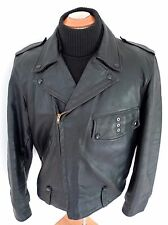 ✰ Vintage Ralph Edwards BUCO PJ27 LEATHER Motorcycle POLICE JACKET LG USA MINTY!