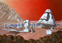 """perfect 36x24 oil painting handpainted on canvas""""Mars mission""""@N15776"""