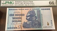 2008 Zimbabwe 100 Trillion Dollars PMG66 EQP Gem Crisp UNC Pick #91