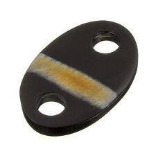 50 mm corne noire ovale Connecteur Pendentif-Crème ligne Pack de 1 (B42/2