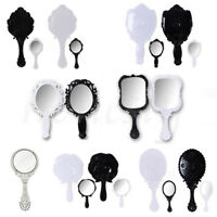 1PC Woman Retro Various Style Floral Hand Held Mirror Makeup Dresser Beauty Gift