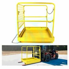 36x 36 Forklift Safety Cage Work Platform Basket Heavy Duty Steel Collapsible