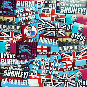 100 x Burnley Stickers inspired by Longside Poster Scarf Badge Flag Hat Moor