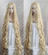 150CM Long Wavy Curly Wig Occident Pastoral Style Mix Blonde Cosplay Wig Hair