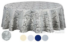 """Tektrum 70"""" Round Damask Tablecloth-Waterproof/Spi ll Proof/Stain Resistant -Gray"""