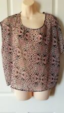Jay Jays Size Large Geometric Multicolour Sheer Top BNWT Ladies