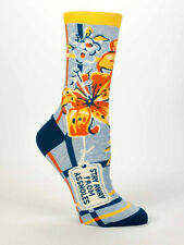 Women's Crew Socks - Stay Away From Assholes - Blue Q Funny Quirky Free Shipping