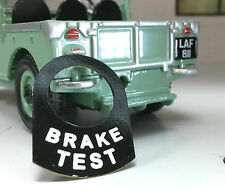 Land Rover Series 1 2 2a 2b 3 Metal Switch Tab Badge Decal Label Brake Test