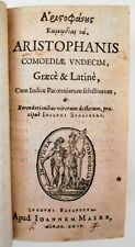 1624 ARISTOPHANES WORKS Greek Latin Text Comedy