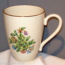 Lenox Holiday Tree & Norris Family Name Fine Bone China Tall Mug