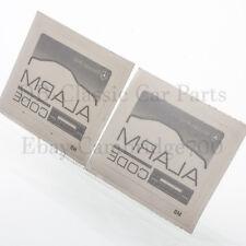 2 x ORIGINAL MERCEDES Aufkleber Sticker R107 W124 W126  ALARM Radio CODE