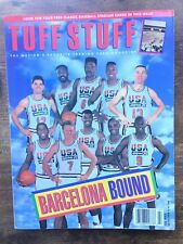Tuff Stuff Magazine July 1992 USA Basketball Team Michael Jordan With Cards