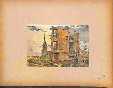Bataille de la Somme Ruines d'Immeuble de Michel-Auguste Colle Peintre 1915 WWI