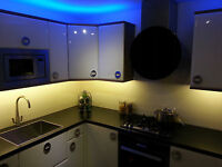 Kitchen Under Unit Pelmet Plinth Display Cabinet Energy Saving LED Strip Lights