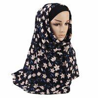 Women Scarf Printed Floral Muslim Hijab Head Wrap Scarves Shawl Headwear Chiffon