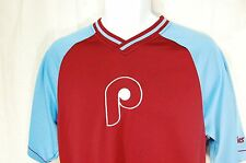 Philadelphia Phillies Cooperstown s/s pullover - Size Medium Red/Blue - EUC