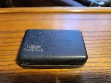 Vintage Gillette Gold Tech Safety Razor w/ case and antique blades unopened