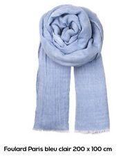 neuve Echarpe 40% laine 60% modal 200x100 cm bleu claire chiné BECK SÖNDER  GAARD 4c0fa9f95db