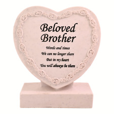 Brother Heart Shaped Memorial Grave Plaque Cremation Marker