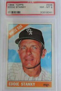 1966 Topps No. 448 - Eddie Stanky (White Sox) - PSA 8