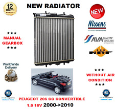 FOR PEUGEOT 206 CC CONVERTIBLE 1.6 16V 2000->2010 NEW RADIATOR OE QUALITY