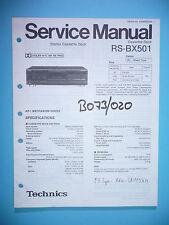 Service Manual-Istruzioni per Technics rs-bx501, ORIGINALE