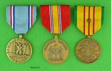 VIETNAM WAR 3 AIR FORCE SERVICE MEDALS - Full Size -USA Made- USAF - VSM, NDSM