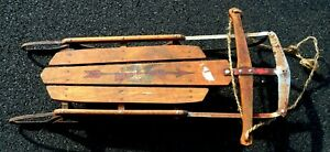 "antique flexible flyer sled, 42"", gently used, steel frame, collectors item"