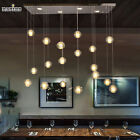 18 Lights Modern LED Crystal Chandelier Light Fixture Bubble Ball Loft Stairwell