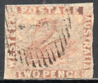 1860 Western Australia Sg 24 2d pale orange Fine Used