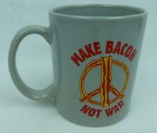 Make Bacon Not War Peace Sign Funny Novelty Coffee Mug Tea Cup