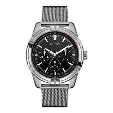 Guess Reloj para Hombre Plata Negro-Impresionante Regalo Presente Navidad Cumpleaños W0965G1 Reino Unido