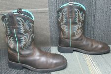 Wmns ARIAT Krista Waterproof Steel Toe Leather Work Boots sz 9.5 B