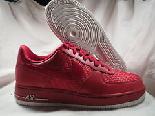 NIKE AF1 AIR FORCE ONE LOW WEAVE RED LEATHER MENS SHOES SIZE 10