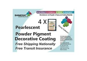 Metallic Pearlescent Powder Pigments 4 Colours to choose Ideal 4 Epoxy Acrylic..