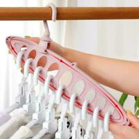 Multi-port Circle Clothes Hanger Clothe Drying Rack Scarf Hanger Clothes Pl O0W2