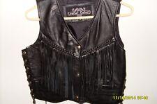 Leather Vest Ladies Medium