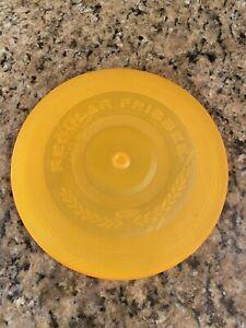 Vintage 1966 Wham-O Regular Frisbee Flying Disc Orange MFG San Gabriel, Calif.