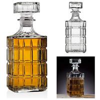 Whiskey Decanter Dispenser 750 mL Lead Free Premium Glass  Elegant Design