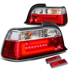 FOR 92-98 E36 BMW 3-SERIES/M3 2DR CHROME RED LENS HOUSING LED BRAKE TAIL LIGHTS