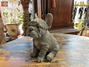 A BLUE FRENCH BULLDOG PUPPY FIGURE, Home or Garden, Vivid Arts Pet Pals.