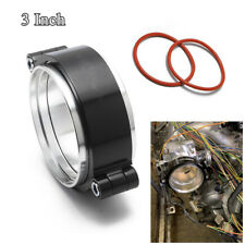 """CNC Aluminum Exhaust V-band Clamp w Flange Assembly Clamp For 3"""" Turbo Dump Pipe"""