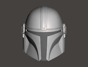 Star Wars The Mandalorian Custom 3.75 Din Djarin Helmet Head for Hasbro TVC