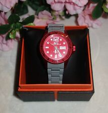 ADEE KAYE LADIES DIVER DATE WATCH AK5433-L-GRAY RED  new