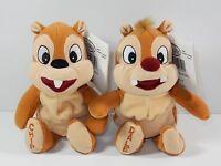 "Disney Store Chip & Dale Chipmunks 8"" Bean Bag Plush w/Tags"