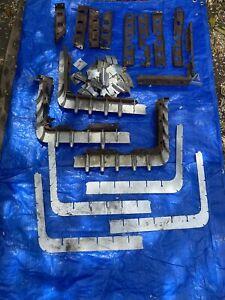 1959 Cadillac Grill Bumper Extensions 59 Fins Brackets Restoration Parts